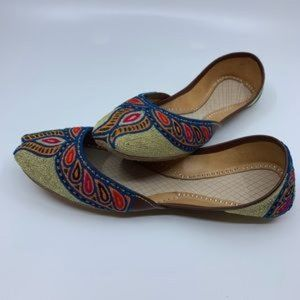 Traditional tribal handmade real leather shoes.